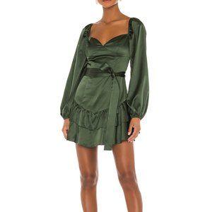 NEW MAJORELLE Etta Mini Dress in Autumn Green
